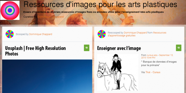 Ressources d'images pour les arts plastiques