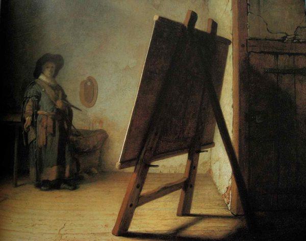 Rembrandt, Jeune peintre dans son atelier, vers 1628, Boston, Museum of Fine Arts.