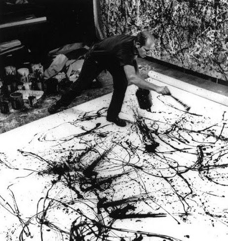 Hans Namuth, Jackson Pollock at work in 1950. Photographies en noir et blanc