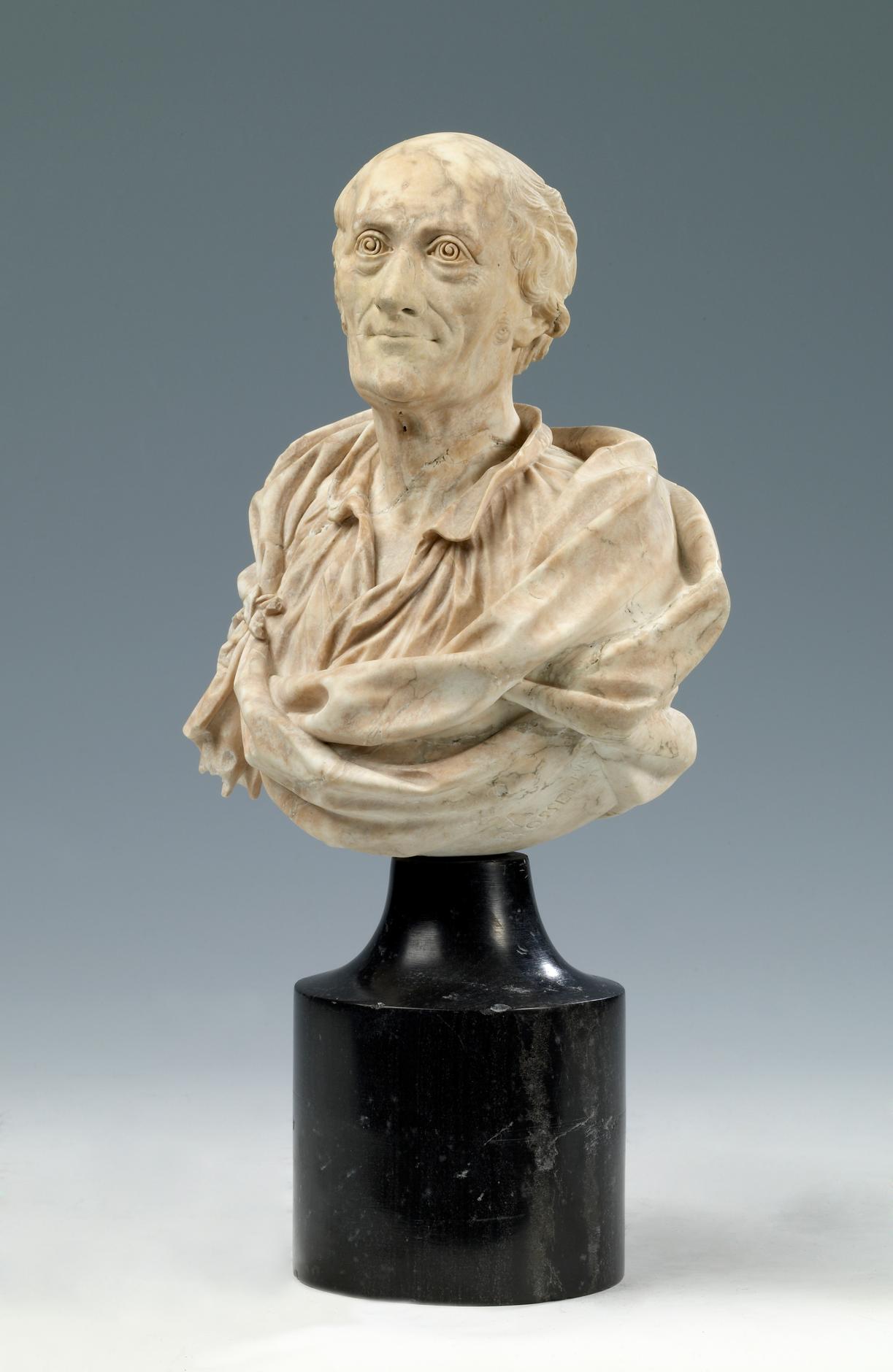 Buste Voltaire par Rosset © Jean-Loup Mathieu, Musées de Lons-le-Saunier