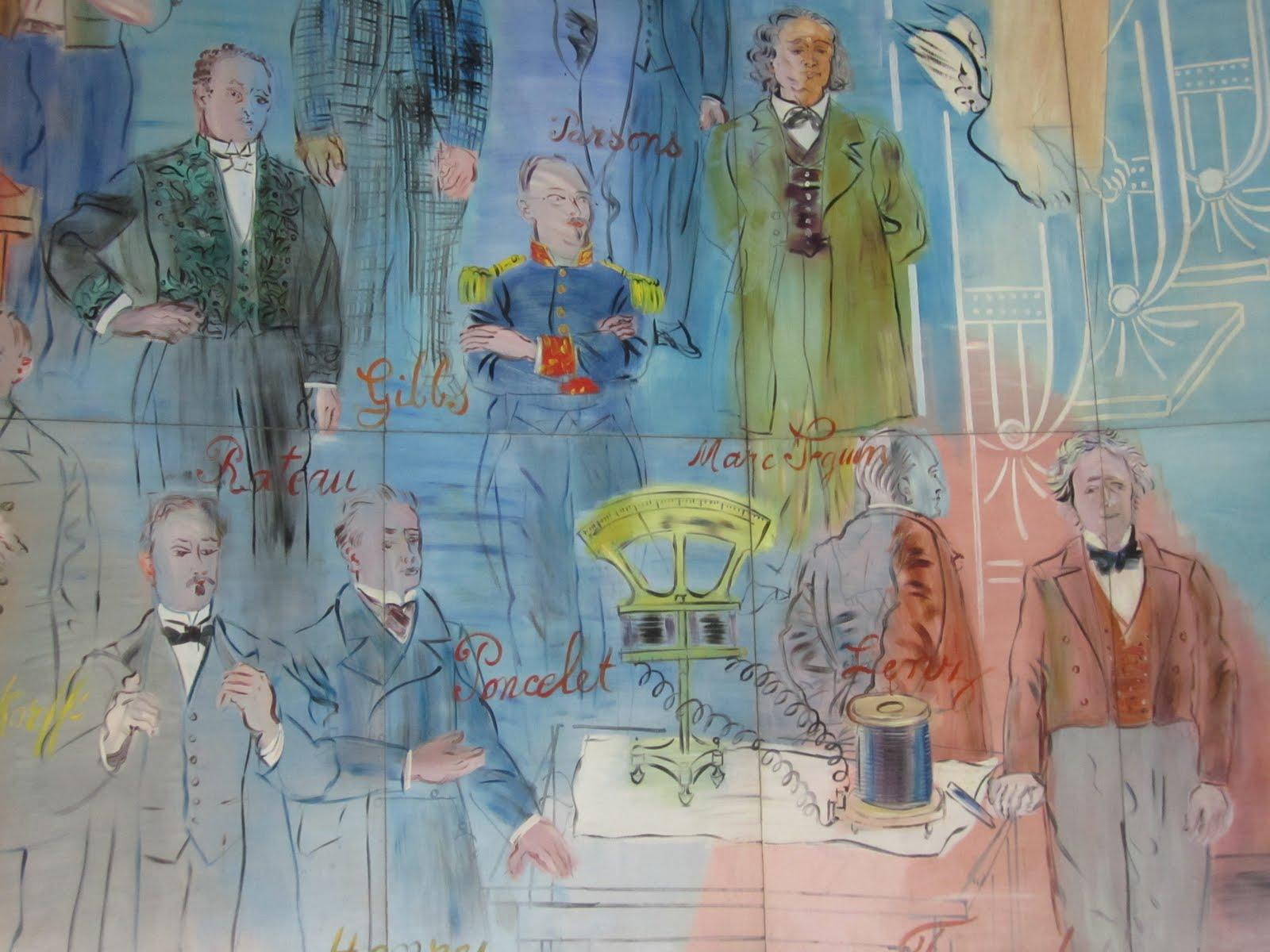Detail La Fée Électricité (Raoul Dufy) at Paris Modern Art Museum