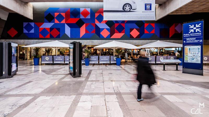Gare Montparnasse : Op art Victor Vasarely ouest